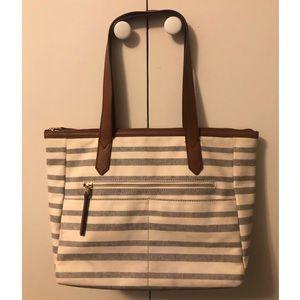 Keeping for now💫Fossil top zip handbag